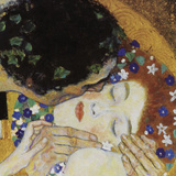 The Kiss (head detail) Reproduction d'art par Gustav Klimt