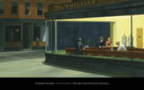 Nighthawks, Noctambules ou Les oiseaux de nuit, 1942 Reproduction d'art par Edward Hopper