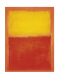 Orange et Jaune Reproduction d'art par Mark Rothko
