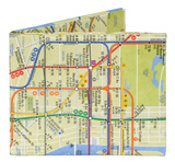 NYC New York City Subway Map Mighty Wallet