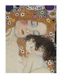 The Three Ages of Woman Detail Reproduction d'art par Gustav Klimt