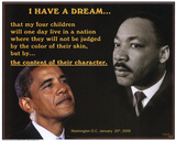 Martin Luther King Jr and President Barack Obama I Have a Dream