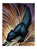 Panthère noire Reproduction d'art par Frank Mcintosh