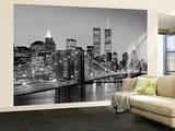 New York City Brooklyn Bridge by Henri Silberman Huge Wall Mural Art Print Poster