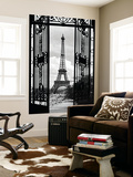 La Tour Eiffel Tower Paris Gates Mini Mural Huge Poster Art Print