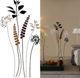 Grasses Brown Black 13 Wall Stickers