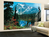 Mountain Morning Huge Wall Mural Art Print Poster