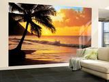 Papier peint Coucher de soleil sur l'Océan Pacifique Papier peint