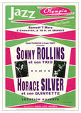 Sonny Rollins Trio & Horace Silver Jazz Music Poster Print