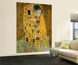 Gustav Klimt The Kiss Wall Mural
