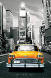 New York City Times Square NY Taxi No 1 Art Poster Print