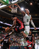 Boston  MA - June 3: Norris Cole and Rajon Rondo