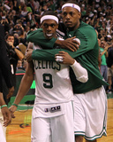 Boston  MA - June 03: Rajon Rondo and Paul Pierce