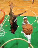 Boston  MA - June 3: Rajon Rondo and Udonis Haslem