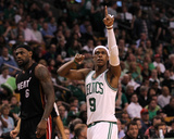 Boston  MA - June 03: Rajon Rondo and LeBron James