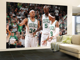 Boston  MA - June 3: Paul Pierce  Kev and Rajon Rondo