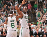 Boston  MA - June 3: Kevin Garnett and Rajon Rondo