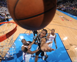Oklahoma City  OK - June 2: Kawhi Leonard and Kendrick Perkins