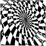Oval Dart Board Style Maze