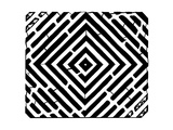 Diamond Square Optical Illusion Maze Art Psyc