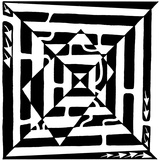 A1 Monolith Optical Illusion Maze