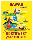 Northwest Orient Airlines  Hawaii c1960s