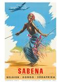 Sabena Airlines  Belgium - Congo - South Africa c1950s