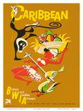 BWIA Caribbean  Limbo c1950s