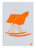 Orange Eames Rocking Chair