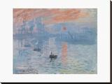 Impression soleil Levant Tableau sur toile par Monet