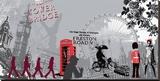 London Attitude Tableau sur toile par Farkas