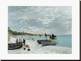 La Plage À Sainte Adresse Tableau sur toile par Monet