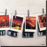 De New York à San Francisco Tableau sur toile par Vincent Gachaga