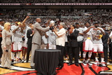 Miami  FL - June 9: The Miami Heat Eastern Conference Championship trophy is presented to the Miami