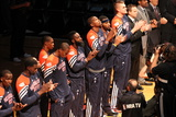 Miami  FL - June 17: The Oklahoma City Thunder players line up during Game Three of the 2012 NBA Fi