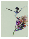 Ballerina Watercolor 3 Reproduction d'art par NaxArt