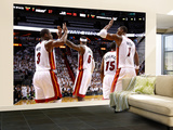 Miami  FL - June 17: Dwyane Wade  LeBron James and Chris Bosh