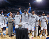 Oklahoma City  OK - June 6: Kendrick Perkins  Kevin Durant  Serge Ibaka and Russell Westbrook
