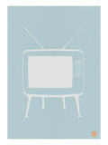 Vintage Tv Blue Poster