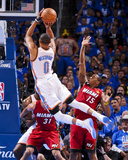 Oklahoma City  OK - June 12: Russell Westbrook and Mario Chalmers