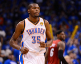 Oklahoma City  OK - June 12: Kevin Durant and LeBron James