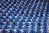 Oklahoma City  OK - June 12: Genral view of the seats covered with shirts for the fans