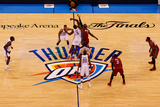 Oklahoma City  OK - June 12: Serge Ibaka and LeBron James
