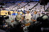 Oklahoma City  OK - June 6: TNT NBA analysts Shaquille O&#39;Neal  Ernie Johnson Jr  Kenny Smith and C