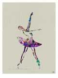 Ballerina Watercolor 4 Reproduction d'art par NaxArt