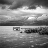 A Dock on the Bay with a Storm Approaching in the Outer Banks