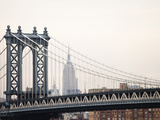 Empire State Building and Manhattan Bridge from the Brooklyn Bridge