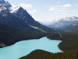 Peyto Lake Is a Glacier-Fed Lake in the Canadian Rockies