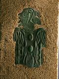 A Plaque Depicting a Birdman Figure Made of Copper