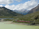The Glacier Express Train Near St Moritz  Canton Graubunden  Swiss Alps  Swiitzerland  Europe